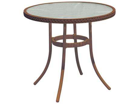 Suncoast Kona Wicker 30 Round Glass Bistro Table
