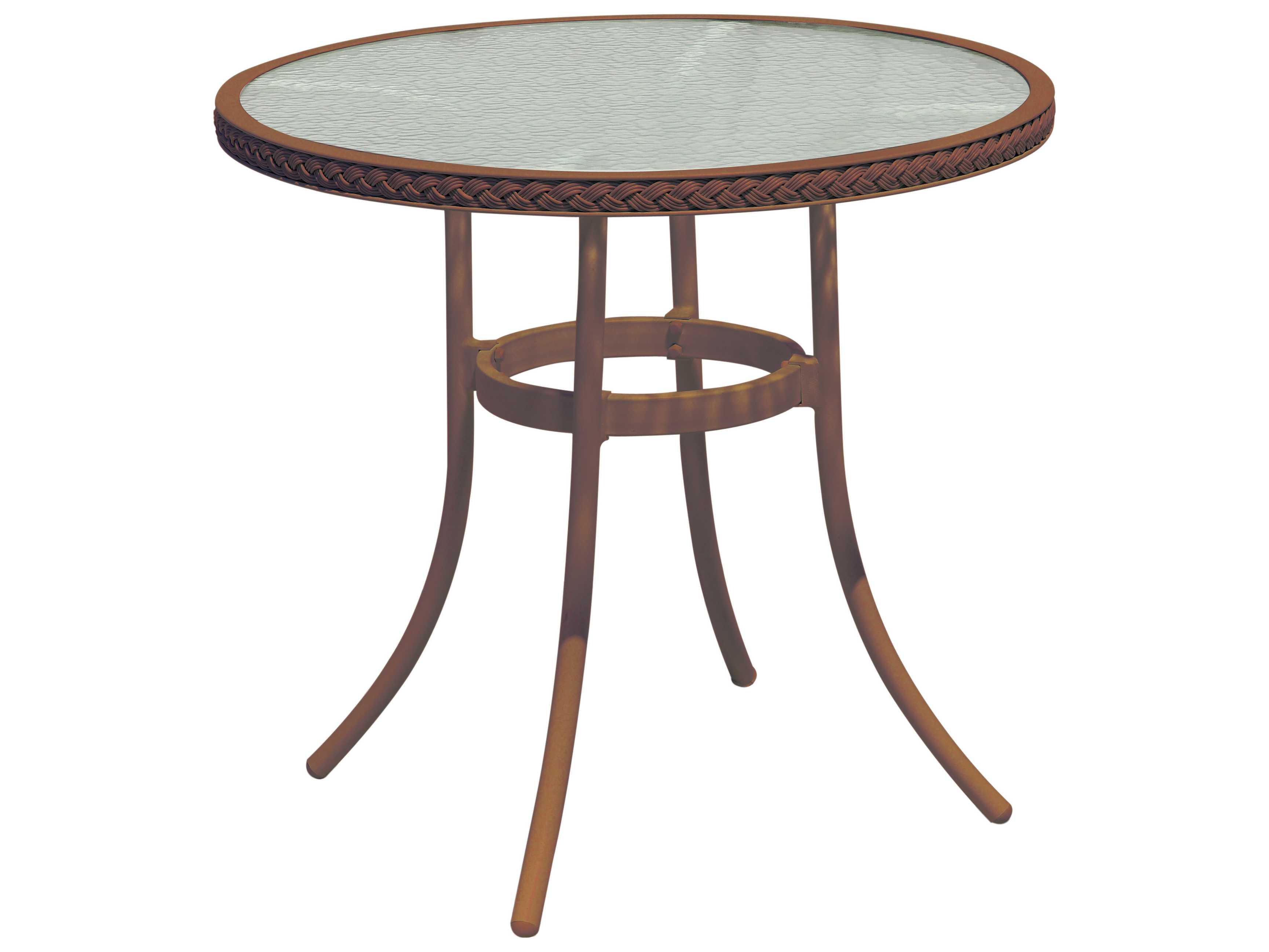 Suncoast Kona Wicker 30 Round Glass Bistro Table 123 T30