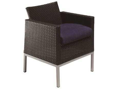 Suncoast Avenir Wicker Cushion Arm Dining Chair PatioLiving