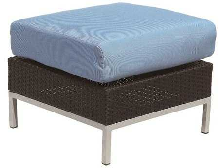 Suncoast Avenir Wicker Cushion Ottoman PatioLiving