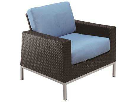 Suncoast Avenir Wicker Cushion Arm Lounge Chair