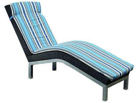 Suncoast Avenir Wicker Cushion Side Chaise Lounge PatioLiving