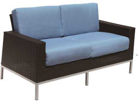Suncoast Avenir Wicker Cushion Arm Loveseat