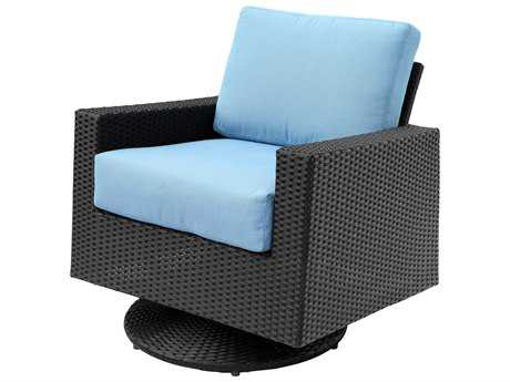 Suncoast Avenir Wicker Cushion Arm Swivel Glider Lounge Chair