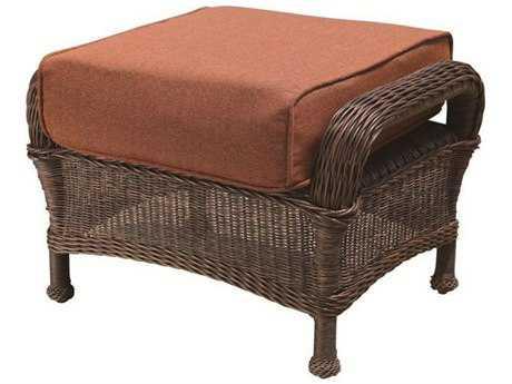 Suncoast Monaco Wicker Cushion Ottoman