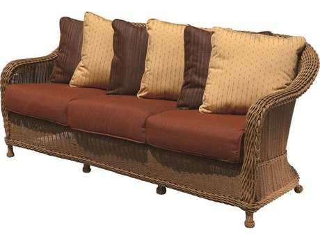Suncoast Monaco Wicker Cushion Sofa