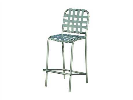 Suncoast Sanibel Cross Strap Cast Aluminum Side Bar Stool