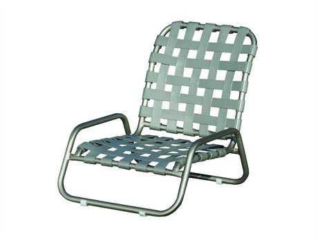 Suncoast Sanibel Cross Strap Cast Aluminum Arm Lounge Chair