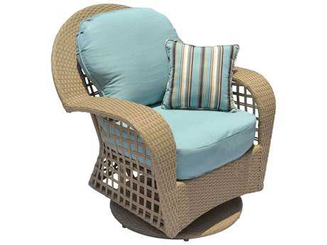 Suncoast Sedona Wicker Swivel Glider Lounge Chair