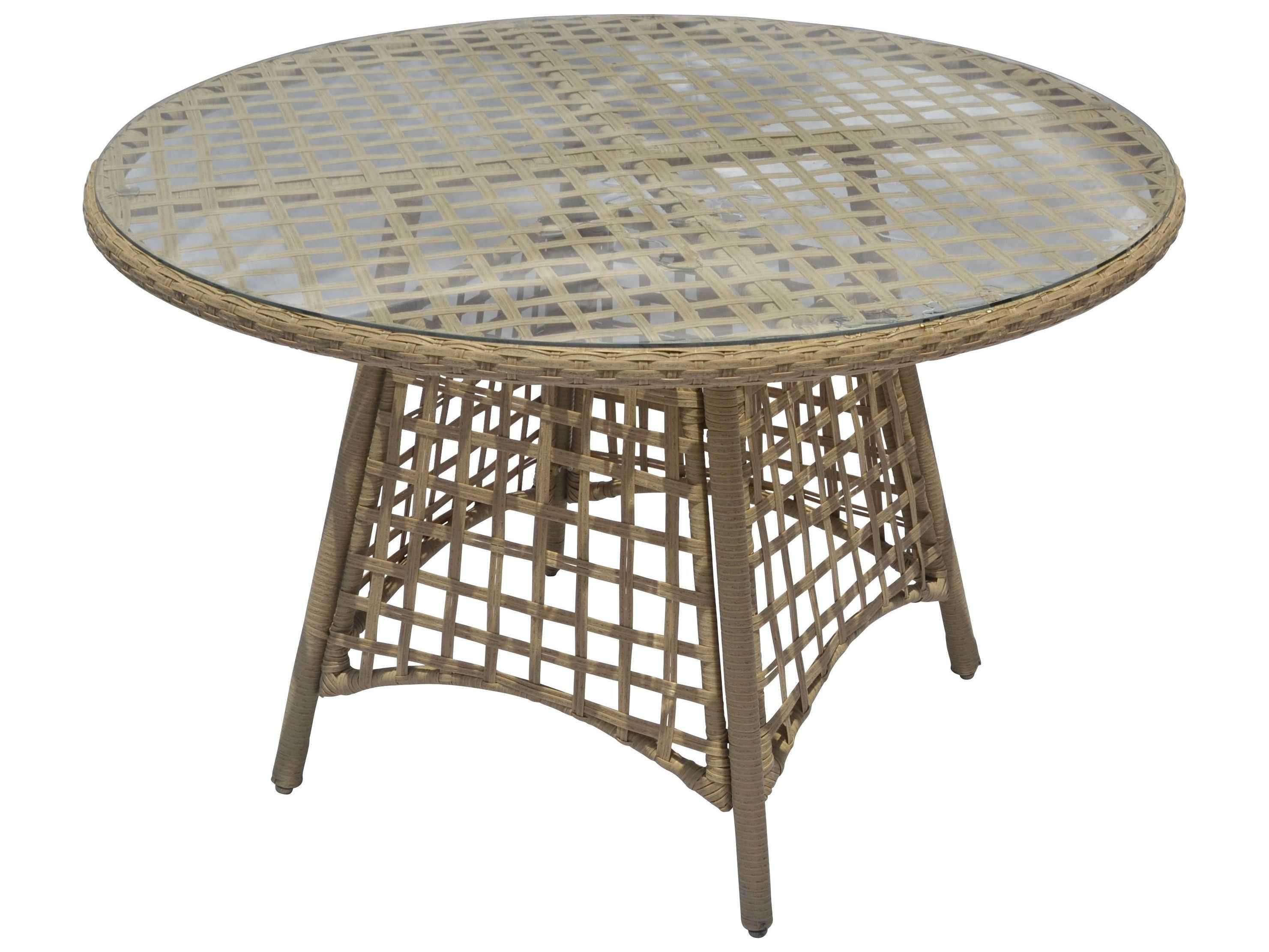 suncoast sedona wicker 48 39 39 round dining table su129t48