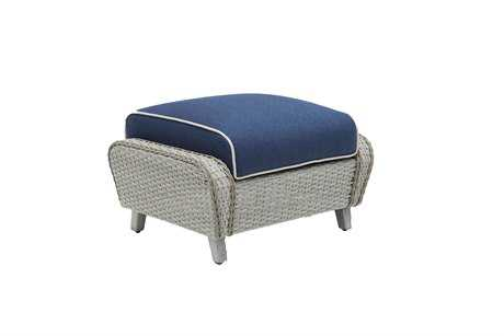 Suncoast Haven Wicker Ottoman