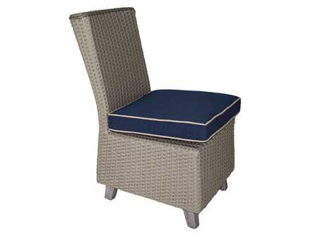 Suncoast Haven Wicker Armless Dining Chair