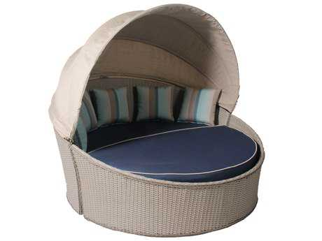 Suncoast Haven Wicker Day Bed with Canopy