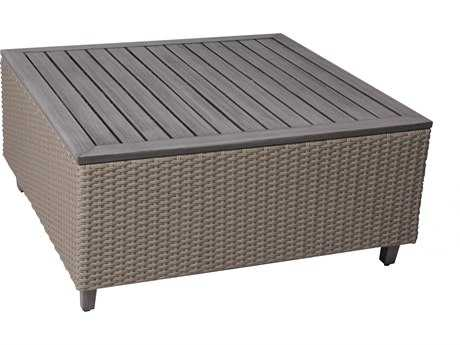 Suncoast Haven Wicker 42 Square Coffee Table