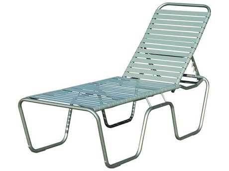 Suncoast Sanibel Strap Aluminum Side Adjustable Stackable Chaise Lounge