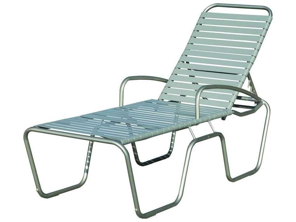 Suncoast sanibel strap aluminum arm adjustable chaise for Armed chaise lounge