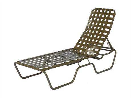 Suncoast Sanibel Cross Strap Cast Aluminum Stackable Chaise