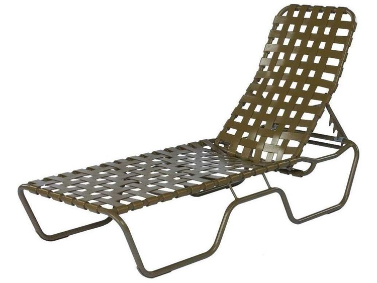 Suncoast Sanibel Cross Strap Cast Aluminum Stackable Chaise