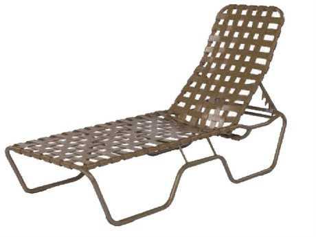 Suncoast Sanibel Cross Strap Cast Aluminum Chaise Lounge