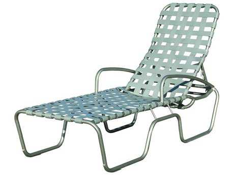 Suncoast Sanibel Cross Strap Cast Aluminum Arm Chaise
