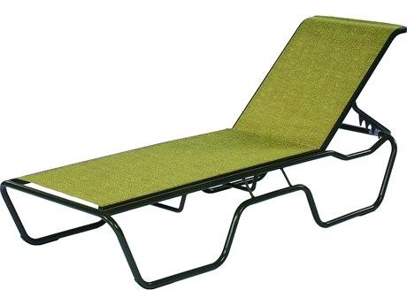 Suncoast Sanibel Sling Cast Aluminum Stackable Chaise Lounge
