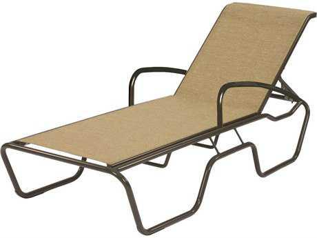 Suncoast Sanibel Sling Cast Aluminum Chaise Lounge