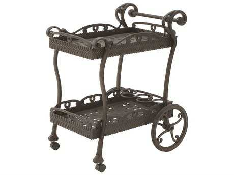 Suncoast Cast Aluminum Metal Serving Cart