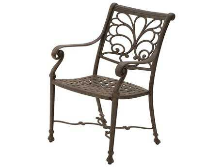 Suncoast Windsor Cast Aluminum Metal Arm Dining Chair