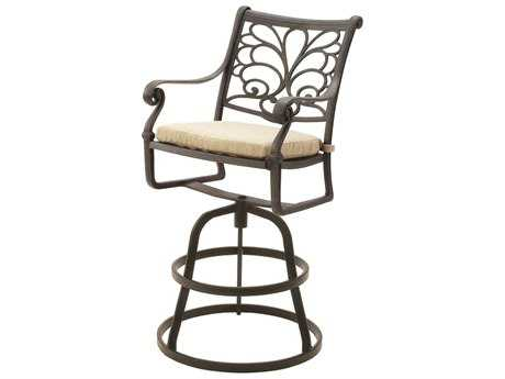 Suncoast Windsor Cast Aluminum Cushion Arm Swivel Bar Stool