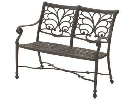 Suncoast Windsor Cast Aluminum Metal Arm Bench