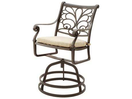 Suncoast Windsor Cast Aluminum Cushion Arm Swivel Counter Stool