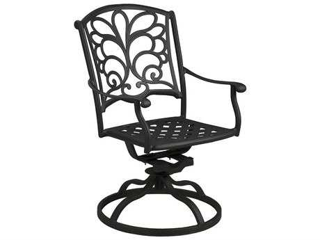 Suncoast Windsor Cast Aluminum Metal Arm Swivel Rocker Dining Chair