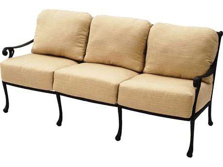 Suncoast Presidio Cast Aluminum Cushion Sofa