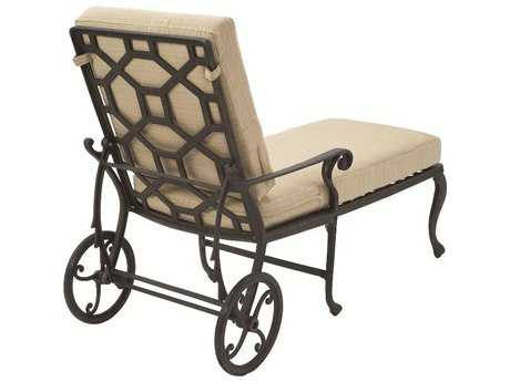 Suncoast Presidio Cast Aluminum Metal Arm Adjustable Chaise