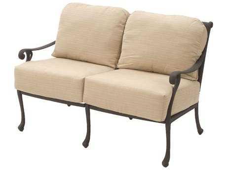 Suncoast Presidio Cast Aluminum Cushion Loveseat