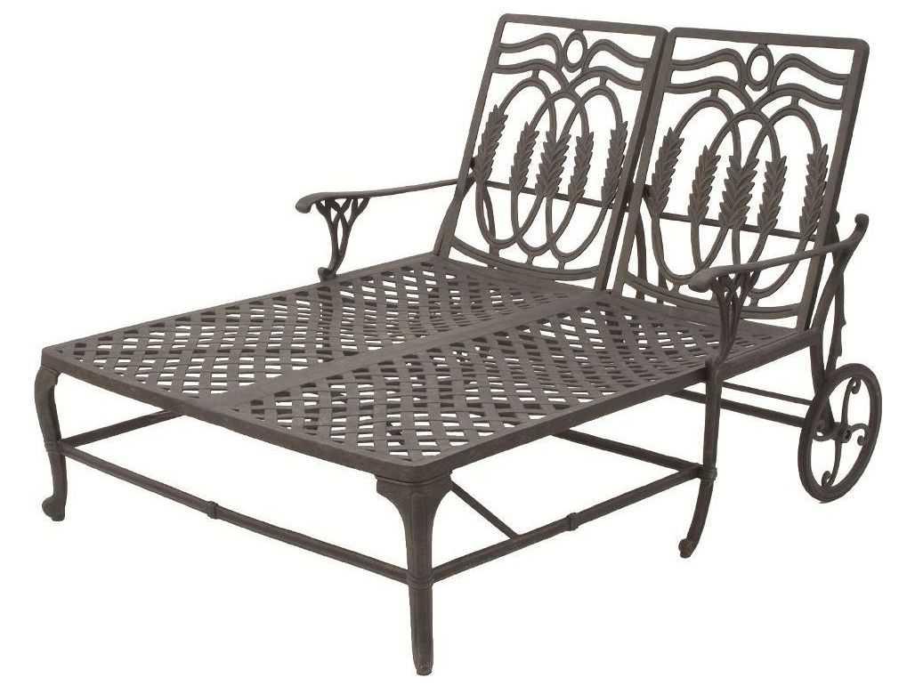 Suncoast Olympia Cast Aluminum Double Chaise Lounge