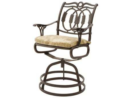 Suncoast Olympia Cast Aluminum Cushion Swivel Gathering Counter Stool