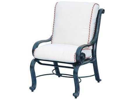 Suncoast San Marco Cushion Cast Aluminum Arm Dining Chair