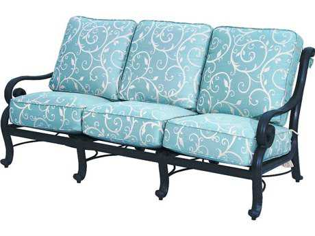 Suncoast San Marco Cushion Cast Aluminum Sofa