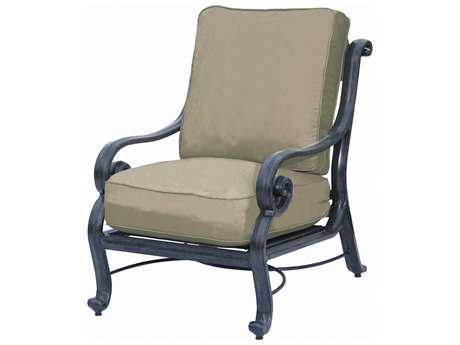 Suncoast San Marco Cushion Cast Aluminum Arm Lounge Chair