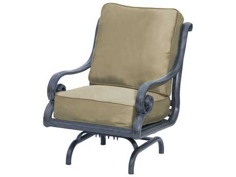 Suncoast San Marco Cushion Cast Aluminum Arm Glider Lounge Chair
