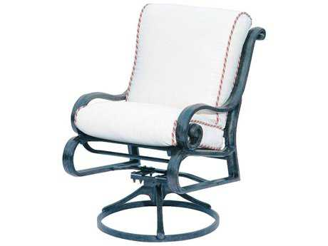 Suncoast San Marco Cushion Cast Aluminum Arm Swivel Rocker Lounge Chair