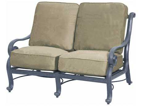 Suncoast San Marco Cushion Cast Aluminum Loveseat