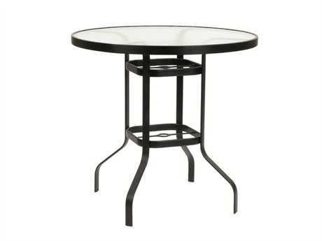 Suncoast Cast Aluminum 30'' Round Glass Top Bar Table