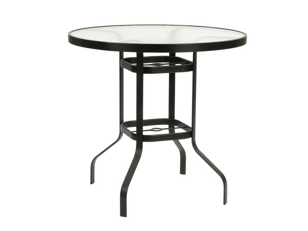 suncoast cast aluminum 30 39 39 round acrylic bar table 30bkda. Black Bedroom Furniture Sets. Home Design Ideas