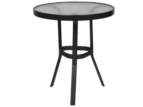 Suncoast Cast Aluminum 30'' Round Glass Top Gathering Height Table