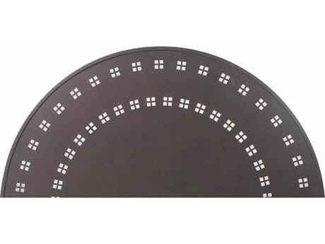 Suncoast Patterned Square Aluminum 30''Wide Round Dining Table