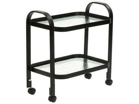 Suncoast Aluminum Glass Serving Cart 16W x 14D x 28H