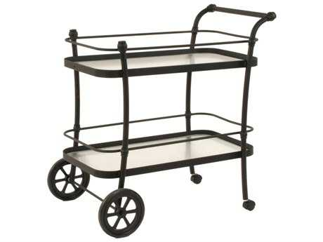 Suncoast Aluminum Glass Serving Cart 24W x 39D x 41H