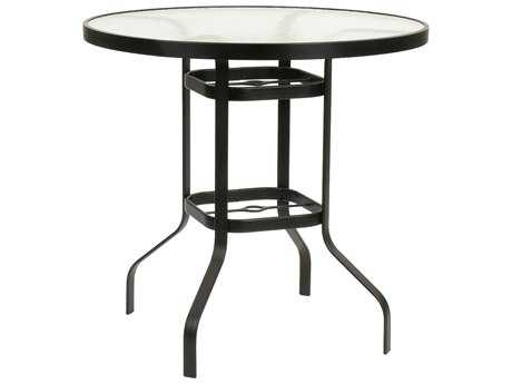 Suncoast Cast Aluminum 36'' Round Glass Top Bar Table